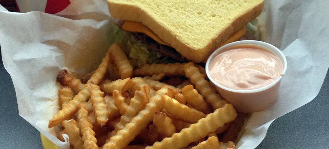 Nothing can beat our mouthwatering Heymaker burger with chocolate shake!